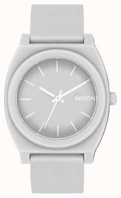 Nixon 时间出纳员p  哑光酷灰色 灰色硅胶表带 灰色表盘 A119-3012-00