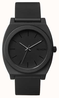 Nixon 时间出纳员p  磨砂黑 黑色硅胶表带 黑色表盘 A119-524-00