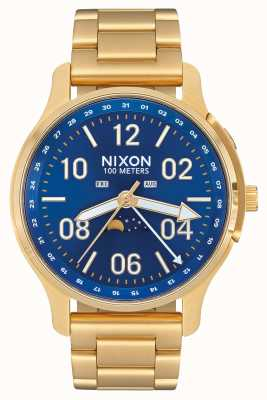 Nixon 上升器|全金/蓝色阳光|黄金ip钢|蓝色表盘 A1208-2735-00