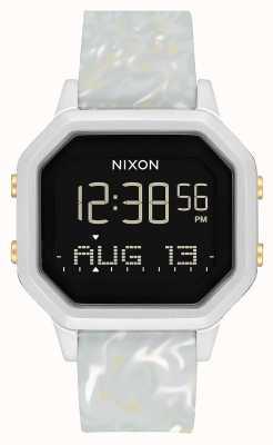 Nixon Siren ss  银色/灰色大理石 数码 大理石色硅胶表带 A1211-3413-00