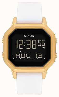 Nixon Siren ss  金色/白色 数码 白色硅胶表带 A1211-508-00