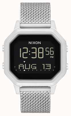 Nixon 警笛米兰人|全银|数码|不锈钢网状手链 A1272-1920-00