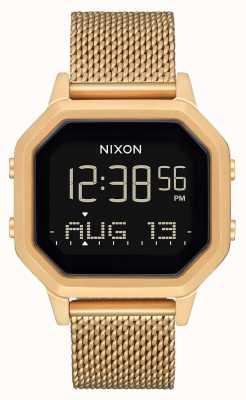 Nixon 警笛米兰人|全金|数码|金色ip钢网手链 A1272-502-00