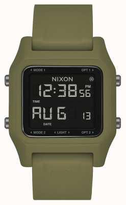 Nixon 主食|橄榄|数码|橄榄绿色硅胶表带 A1309-333-00
