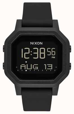 Nixon 警笛声|全黑|数码|黑色硅胶表带 A1311-001-00