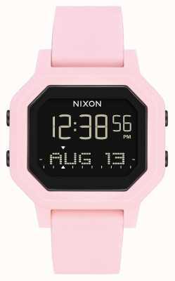 Nixon 警笛声 浅粉色 数码 粉色硅胶表带 A1311-3154-00