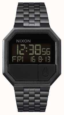 Nixon 重新运行全黑|数码|黑色ip钢手链 A158-001-00