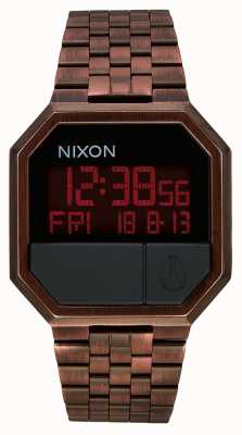 Nixon 重新运行仿古铜|数码|铜色ip钢手链 A158-894-00
