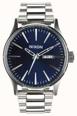 Nixon 哨兵SS |蓝色的阳光|不锈钢手链|蓝色表盘 A356-1258-00