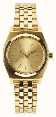 Nixon 小柜员 全金 黄金ip钢手链 金表盘 A399-502-00