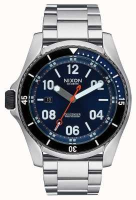 Nixon 下降器 蓝色的阳光 不锈钢手链 蓝色表盘 A959-1258-00