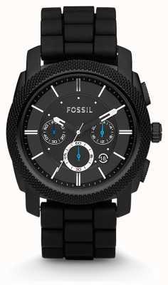 Fossil 男士黑色计时表带表 FS4487