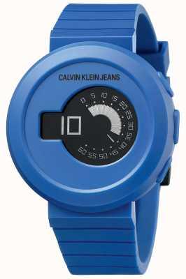 Calvin Klein 男士数码大衣|蓝色硅胶表带|黑色表盘 KAN51YV1