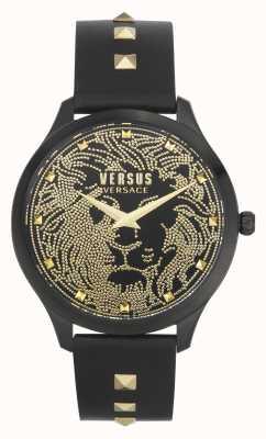 Versus Versace |女装|多姆斯|黑色皮表带|黑色表盘| VSPVQ0520