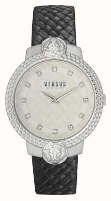 Versus Versace |女装|穆夫法特 |黑色皮表带|白色表盘| VSPLK1120