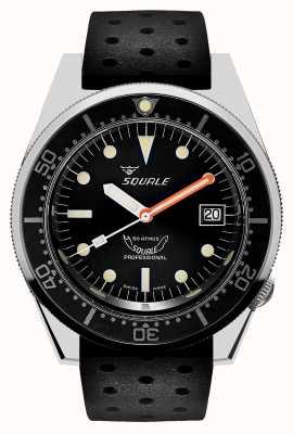 Squale 1521经典|黑色热带表带|黑色表盘 1521CL-CINTRB20