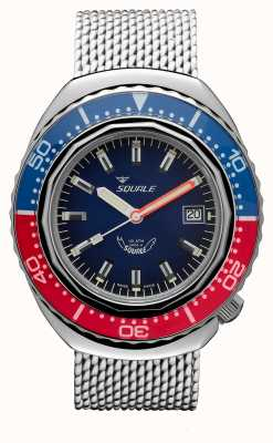 Squale 2002a蓝红色|钢网带|蓝色表盘 B083401-CINSS22
