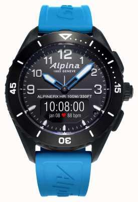 Alpina | Alpinerx还活着|蓝色橡胶表带| AL-284LBBW5AQ6