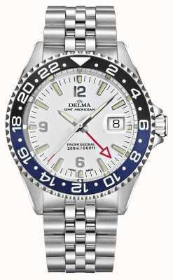 Delma 圣地亚哥格林尼治标准时间|钢手链|白色表盘 41701.648.6.014