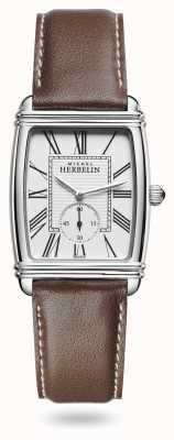 Michel Herbelin 女装装饰艺术|银表盘|棕色皮革表带 10638/08MA