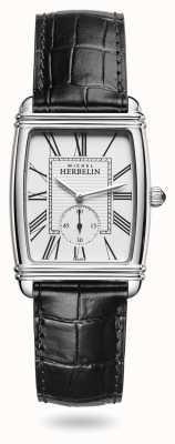 Michel Herbelin 女装 |装饰艺术|银色表盘|黑色皮革表盘 10638/08