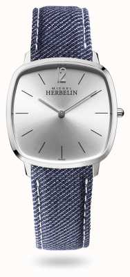 Michel Herbelin 城市|银表盘|蓝色牛仔布表带 16905/11JN