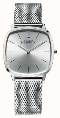 Michel Herbelin 城市|银表盘|不锈钢网状手链 16905/11B