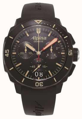 Alpina Seastrong潜水员300 |计时码表|黑色硅胶表带 AL-372LBBG4FBV6