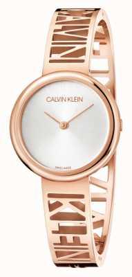 Calvin Klein 躁狂症|玫瑰金pvd钢|银表盘|尺寸m KBK2M616