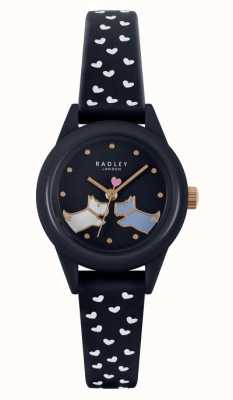 Radley 看它! |女士海军蓝硅胶表带|海军表盘 RY21262