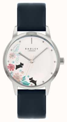 Radley 女士蓝色皮表带|白色花卉表盘 RY21229A