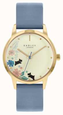 Radley 女士蓝色皮表带|香槟色表盘 RY21230A