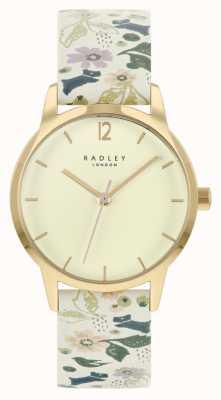 Radley 女士白色花卉皮革表带|香槟色表盘 RY21232A