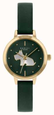 Radley 女士绿色皮革表带|绿色表盘 RY21256A