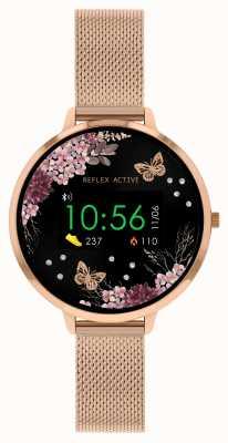 Reflex Active 系列3智能手表|玫瑰金不锈钢网状表带 RA03-4038
