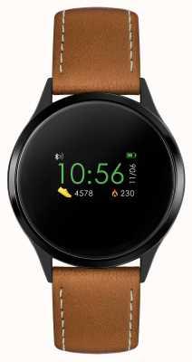 Reflex Active 系列4智能手表|彩色触摸屏|棕色表带 RA04-1000