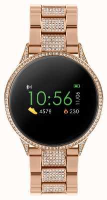 Reflex Active 系列4智能手表|彩色触摸屏|镶玫瑰金不锈钢手链 RA04-4014