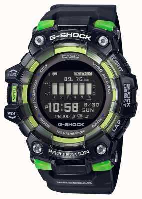 Casio G-shock  运动至关重要的系列 黑色硅胶表带 黑色表盘 GBD-100SM-1ER
