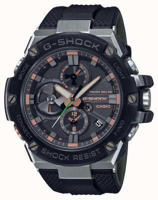 Casio G型钢豪华军事|黑色树脂表带|黑色表盘|蓝牙 GST-B100GA-1AER