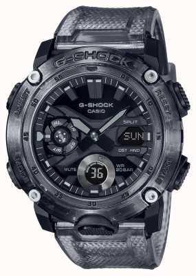 Casio G-shock |骷髅灰色系列|灰色透明塑料表带|灰色表盘 GA-2000SKE-8AER