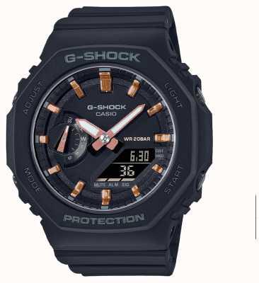 Casio 中型G级休克 黑色树脂表带 黑色表盘 GMA-S2100-1AER
