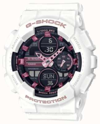 Casio G-shock |男女通用运动|白色树脂表带|黑色表盘 GMA-S140M-7AER