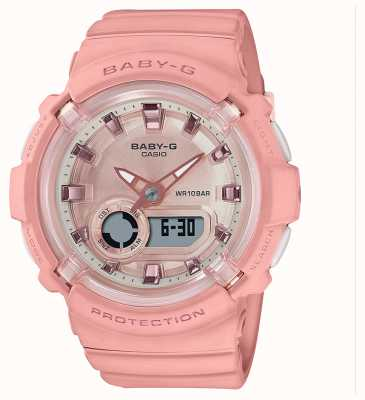 Casio 宝贝-g |珊瑚粉红色硅胶表带| BGA-280-4AER