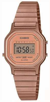 Casio 年份|镀玫瑰金钢手链|数字显示 LA-11WR-5AEF