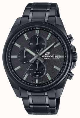 Casio 大厦所有黑色ip |黑色不锈钢手链|黑色表盘 EFV-610DC-1AVUEF