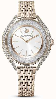 Swarovski |结晶光环|女式|黄金不锈钢手链|白色表盘| 5519456