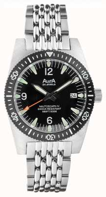Alsta Nautoscaph iv |自动 |黑色表盘|不锈钢手链 NAUTOSCAPH IV