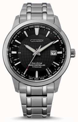 Citizen 男士环保驾驶无线电遥控世界永久在 CB0190-84E