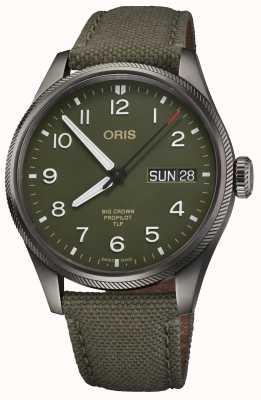 ORIS TLP限量版 绿色纺织表带 绿色表盘 01 752 7760 4287-SET