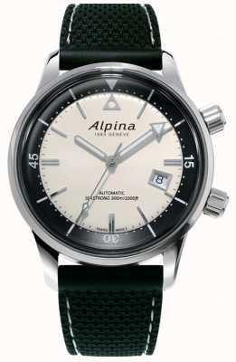 Alpina 男士Seastrong潜水员传承|黑色硅胶表带|白色表盘 AL-525S4H6